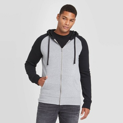 Men's Regular Fit Full Zip Fleece Hoodie - Goodfellow & Co™ Black