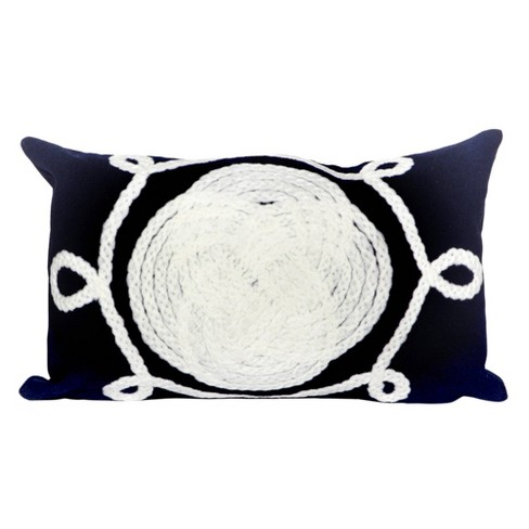Navy Outdoor Throw Pillow - Liora Manne - image 1 of 3