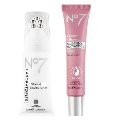 No7 Restore & Renew Multi Action Serum & Laboratories Firming Booster Serum Duo - 2ct