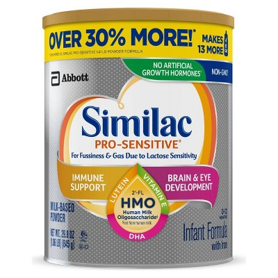 Similac Pro-Sensitive Non-GMO Infant Formula with Iron Powder - 119.2oz Total