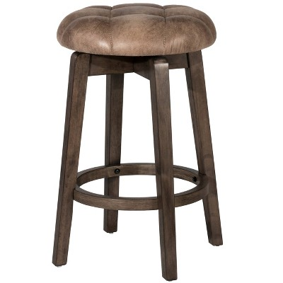 Odette Backless Swivel Counter Height Barstool Taupe - Hillsdale Furniture