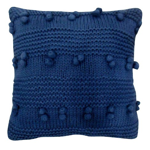 Metallic Blue Square Throw Pillow  - Threshold™ - image 1 of 1