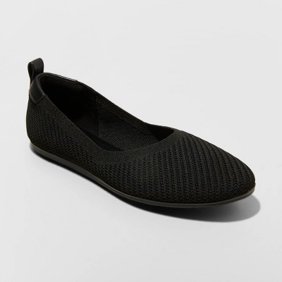 Women's Claribel Ballet Flats - A New Day™ Black