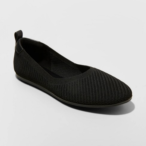 Women's Claribel Ballet Flats - A New Day™ Black - image 1 of 3