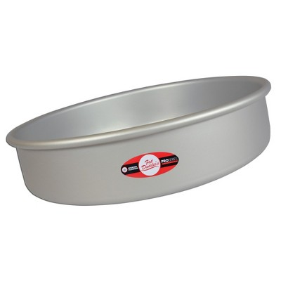 """Fat Daddio's PRD-104 Anodized Aluminum Round Cake Pan with Solid Bottom, 10 x 4"""""""