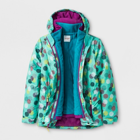 Girls' 3-in-1 System Jacket - Cat & Jack™ Aqua S - image 1 of 4