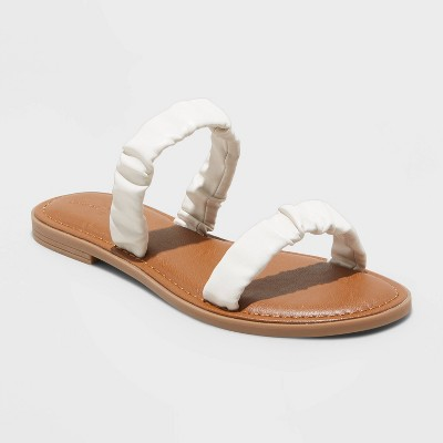 Women's Willow Two Band Scrunched Sandals - Universal Thread™