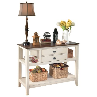 Whitesburg Dining Room Server Wood/Brown/Cottage White - Signature Design by Ashley
