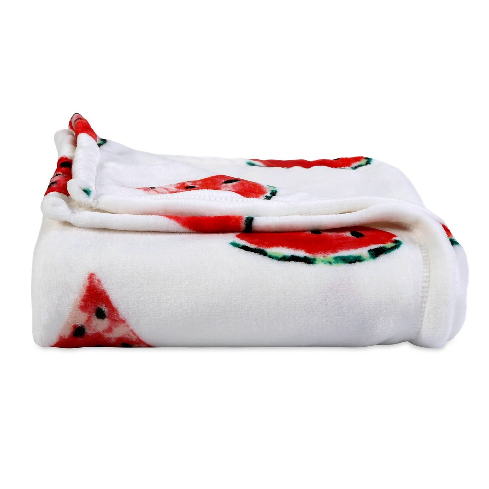Image of Velvety Plush Watermelon Throw Blanket -Better Living