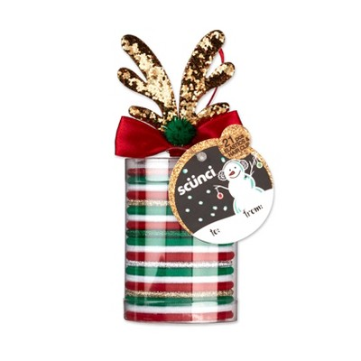 Scunci Holiday Elastics with Reindeer Salon Clip - 21pc