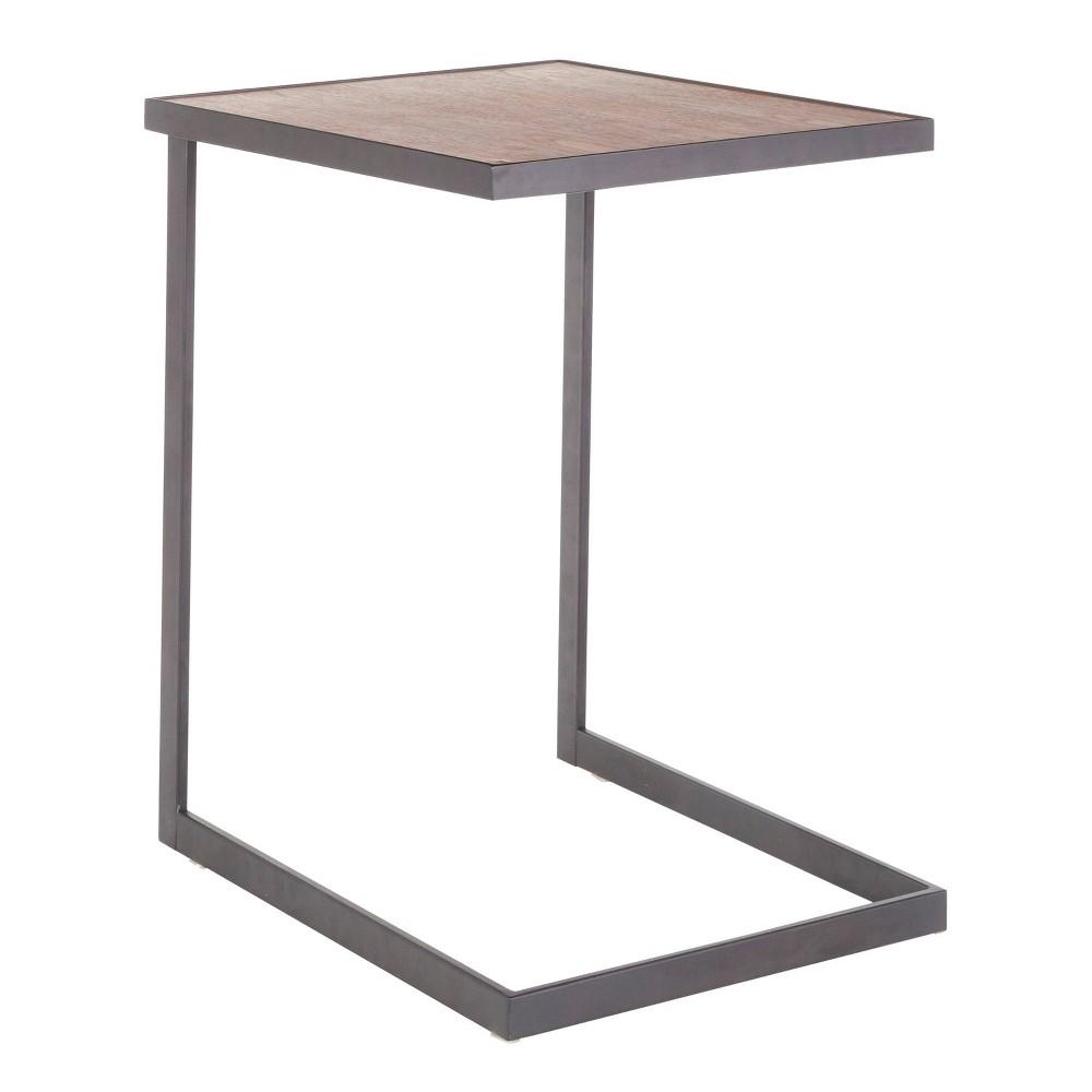 Image of Industrial Zenn End Table Black/Walnut - Lumisource