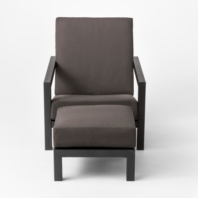 Asti Adirondack Patio Club Chair & Ottoman Set Charcoal - Project 62™
