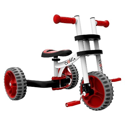 YBike Evolve 3-in-1 14lb. - Red/White