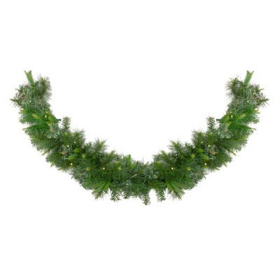 "Northlight 6' x 14"" Prelit LED Cashmere Mixed Pine Commercial Artificial Christmas Garland - Warm White Lights"
