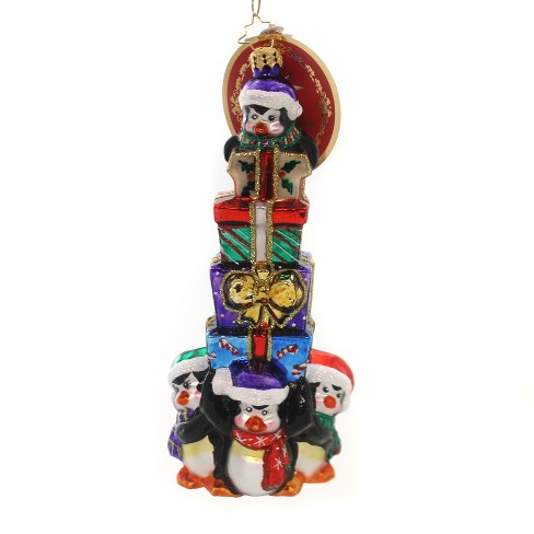 """Christopher Radko 7.5"""" It's Lonely At The Top Penguins Gifts - image 1 of 2"""