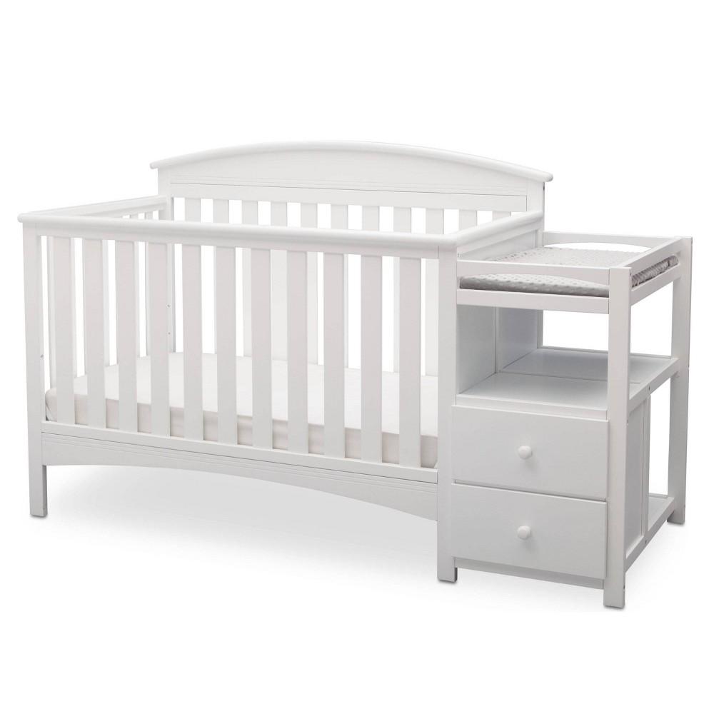 Image of Delta Children Abby Convertible Crib and Changer - Binaca White