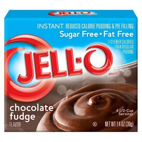 Jell-O Instant Sugar Free-Fat Free Chocolate Fudge Pudding & Pie Filling -1.4oz - image 1 of 2