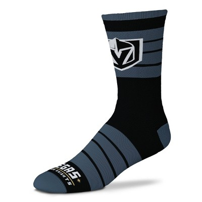 NHL Vegas Golden Knights Black Crew Socks - L