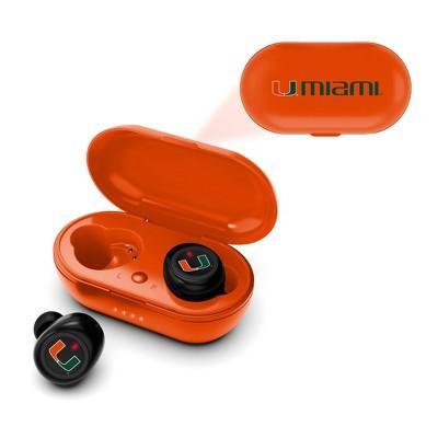 NCAA Miami Hurricanes True Wireless Bluetooth Earbuds