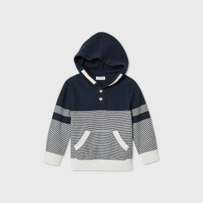 Toddler Boys' Striped Pullover Sweater - Cat & Jack™ Blue