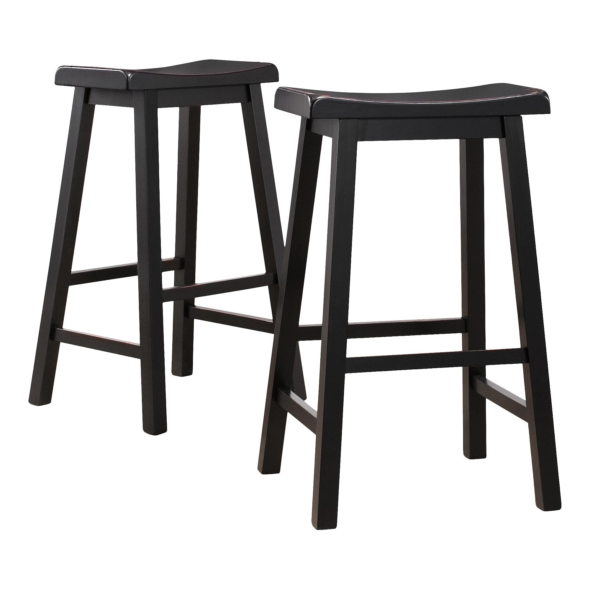 'Scoop 29'' Barstools - Black (Set of 2)'