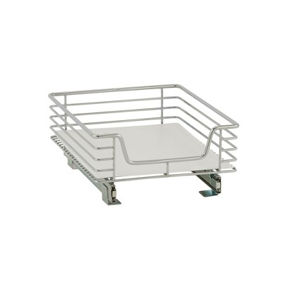 Design Trend 1-Tier Single Basket Sliding Under - Cabinet Organizer 14.5  Standard Depth Chrome