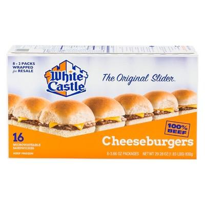 White Castle Microwaveable Frozen Cheeseburger Sliders - 29.28oz/16ct