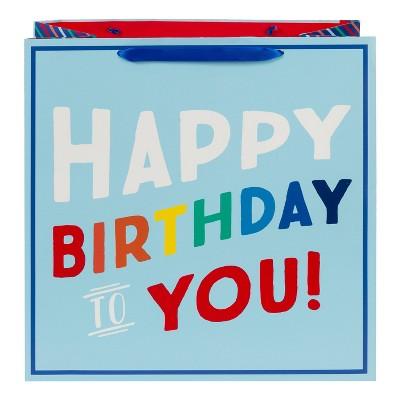 Square Birthday Gift Bag Blue - Spritz™