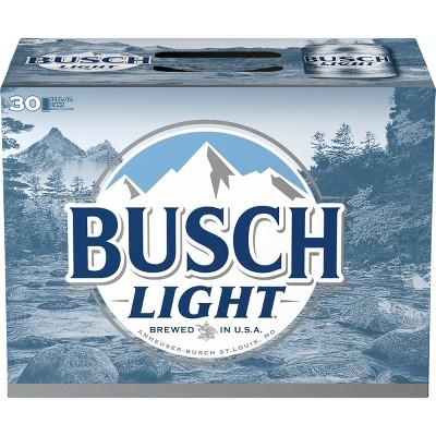 Busch Light - 30pk/12 fl oz Cans