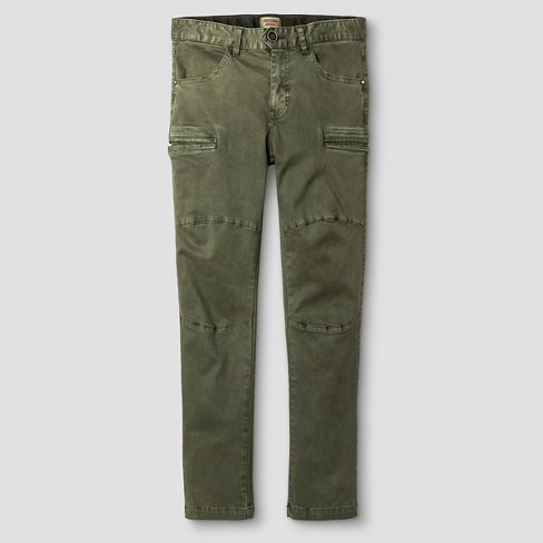Boys' Chino Pants - Mossimo Supply Co.™ Olive - image 1 of 3