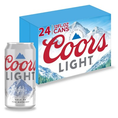 Coors Light Beer - 24pk/12 fl oz Cans