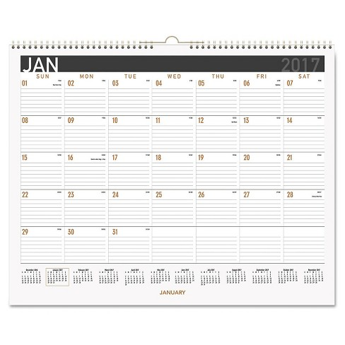 AT-A-GLANCE® Contemporary Medium Monthly Wall Calendar 14 7/8 x 11 7/8 2018 - image 1 of 1