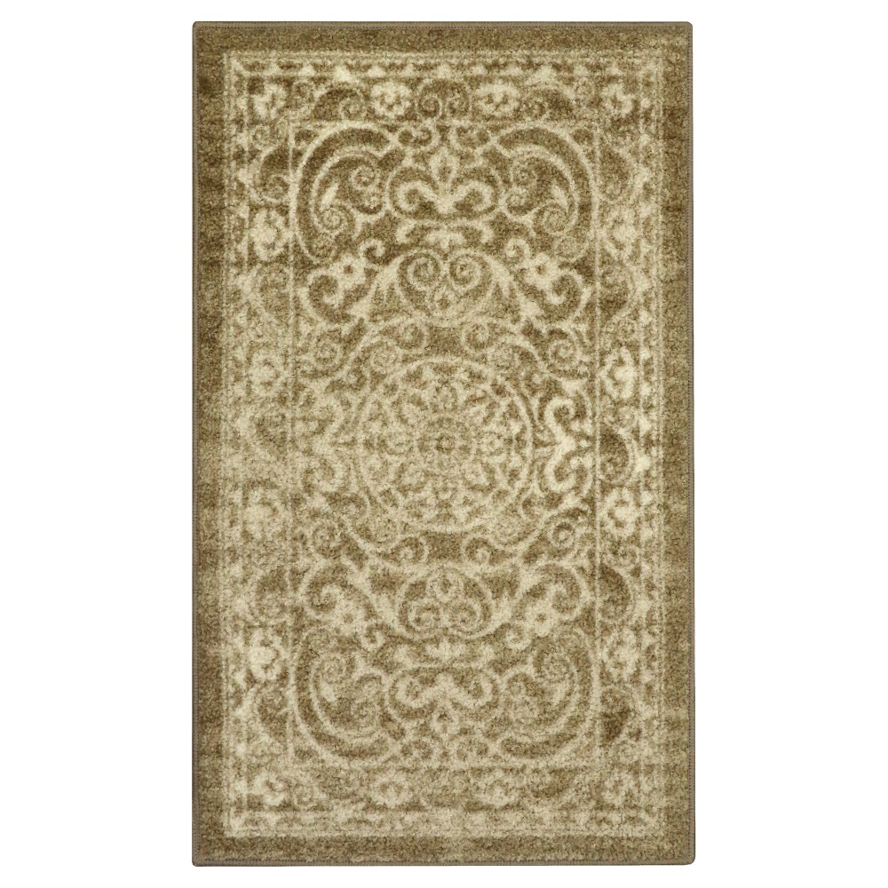 "Image of ""1'8""""X2'10"""" Scroll Tufted Accent Rug Khaki - Maples, Size: 1'8""""X2'10"""", Green"""