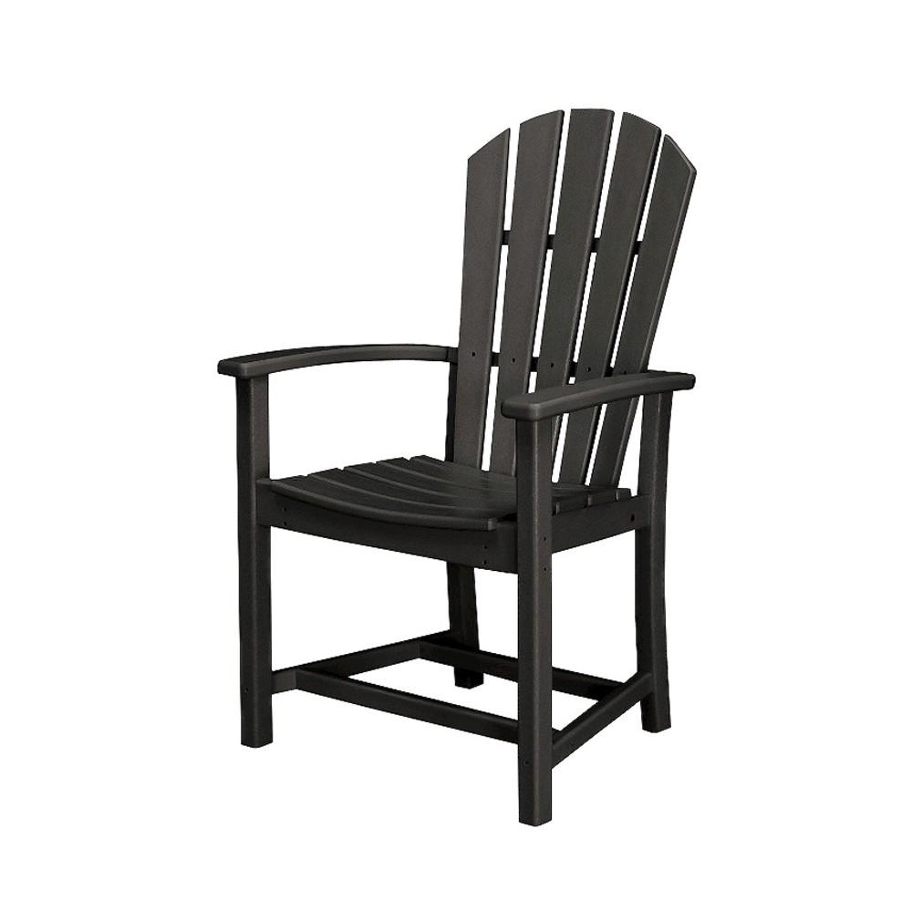 Polywood St Croix Adirondack Dining Chair- Black