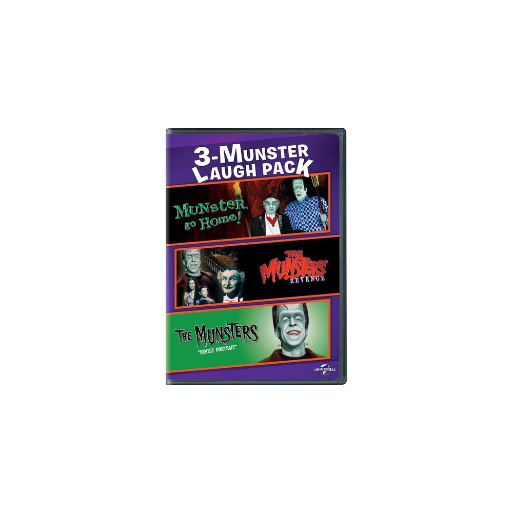 3 Munster Laugh Pack:Munster Go Home/ (Dvd)