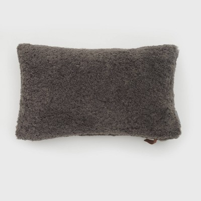 Oversize Teddy Sherpa Lux Throw Pillow - Evergrace
