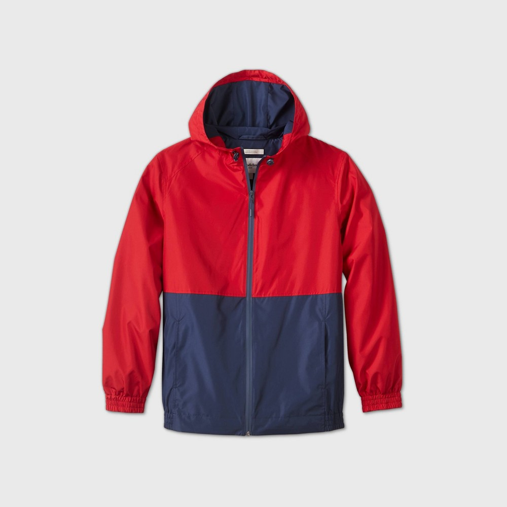 80s Windbreakers, Jackets, Coats Mens Colorblock Hooded Rain Jacket - Goodfellow  Co Ruby 2XL Red $29.99 AT vintagedancer.com