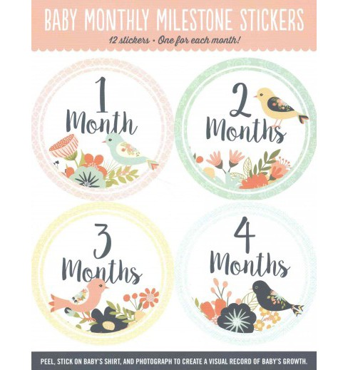 Baby's Monthly Milestone Stickers - Birds : 12 Stickers: One for Each Month! (Paperback) - image 1 of 1