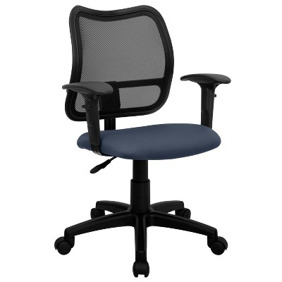 Flash Furniture Mid-Back Mesh Swivel Task Office Chair with Adjustable Arms