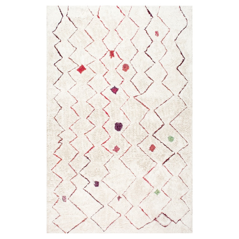 Red Solid Tufted Area Rug - (5'x8') - nuLOOM
