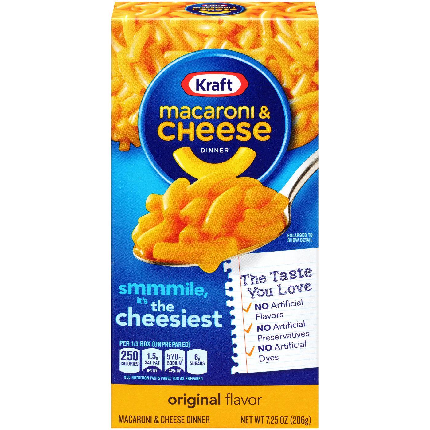 4-Pack Kraft Macaroni & Cheese Dinner Original 7.25 oz