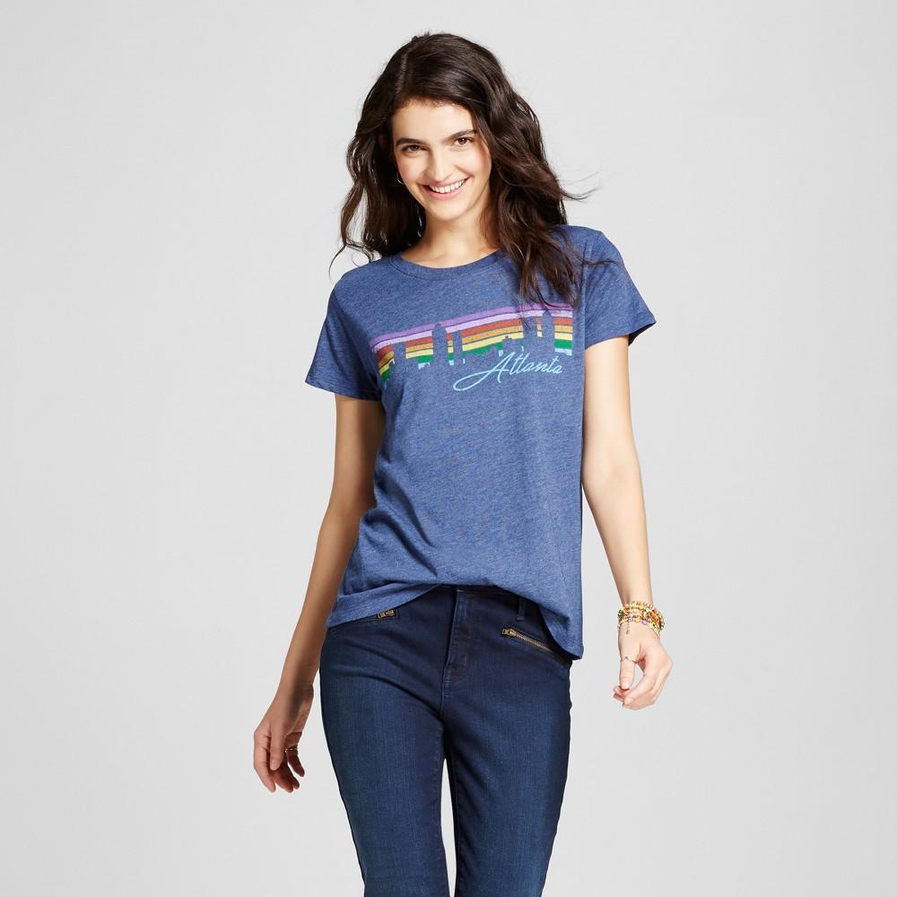 Women's Atlanta Atl Skyline T-shirt M - Navy (Juniors'), Blue