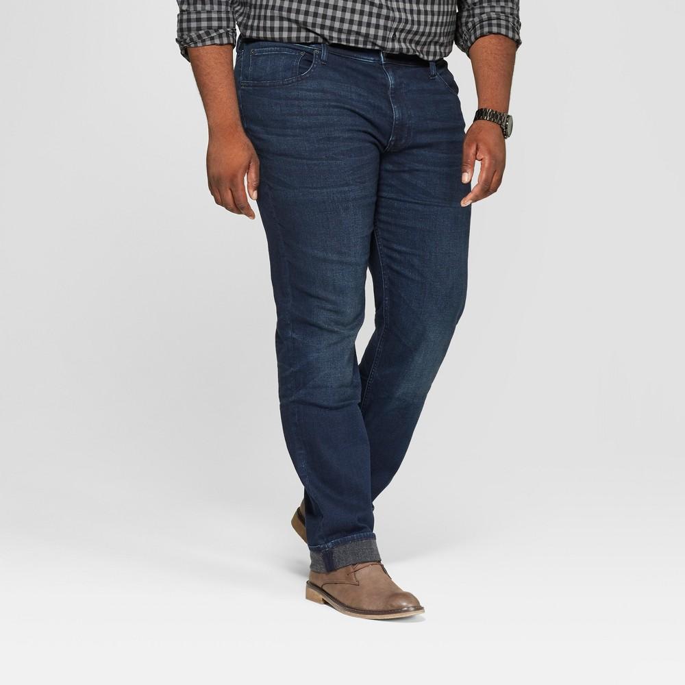 Men's Tall Slim Fit Jeans - Goodfellow & Co Dark Wash 40x36, Blue