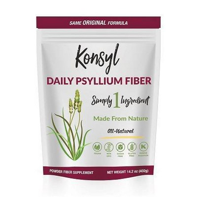 Konsyl Daily Psyllium Fiber All-Natural Powder - Original Formula - 402g