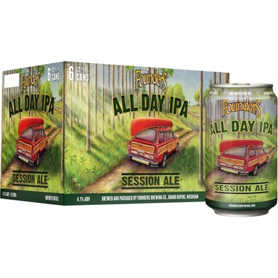 Founders All Day IPA Beer - 6pk/12 fl oz Cans