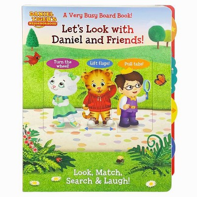 Let's Look with Daniel and Friends! - (A Very Busy Board Book to Look, Match Search & Laugh! Daniel Tiger's Neighborhood) (Board Book)