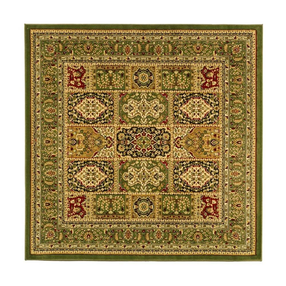6'X6' Loomed Medallion Square Area Rug Green - Safavieh, Multicolored
