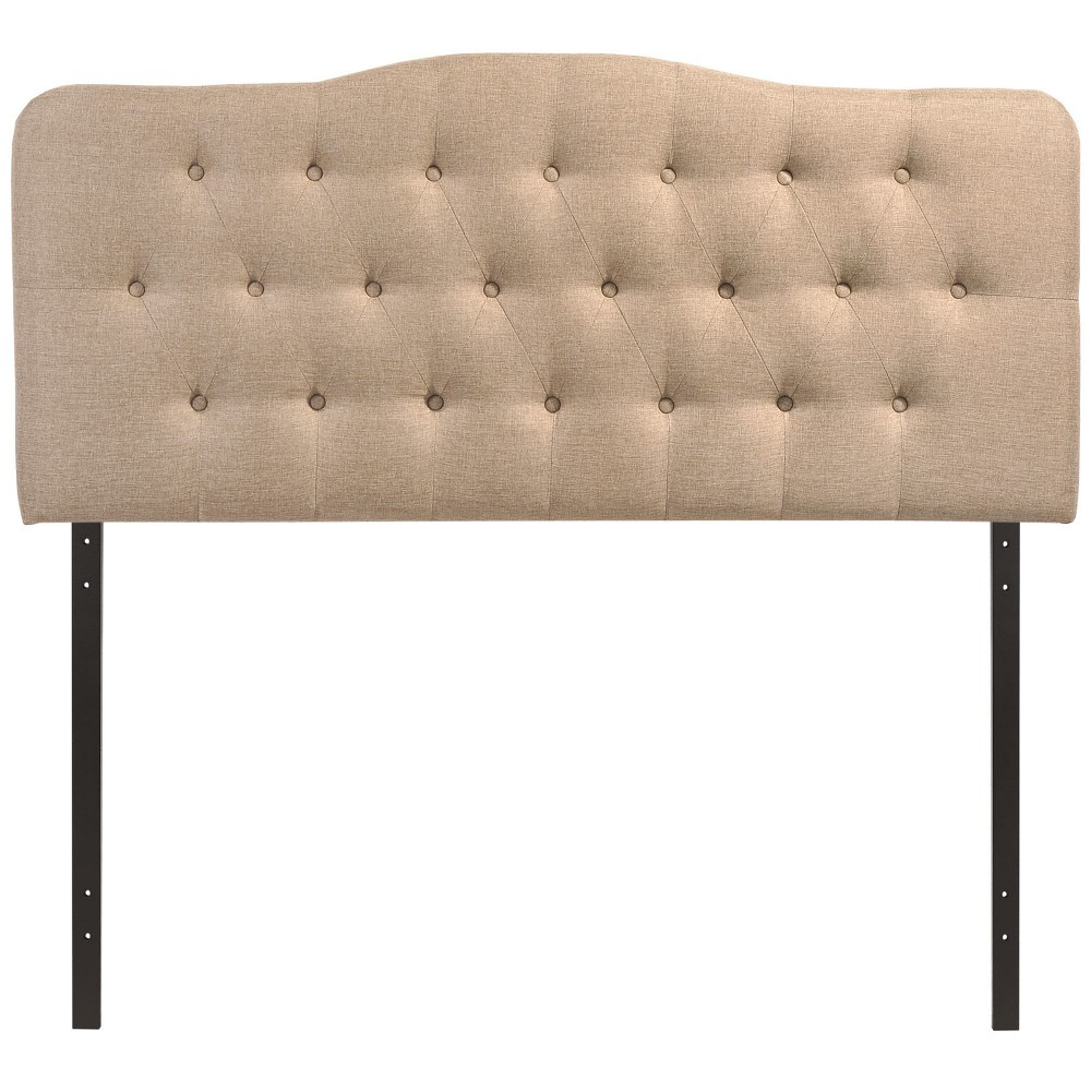 Annabel King Upholstered Fabric Headboard Beige - Modway