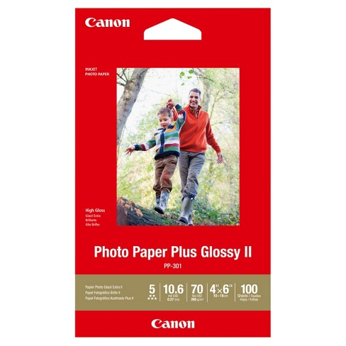 "Canon® PP-301 Photo Paper Plus Glossy II 4""x6"" 100 Sheets - White (1432C006) - image 1 of 1"