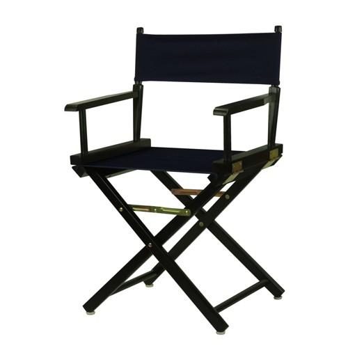 Black Frame Director's Chair - Navy Blue, Blue Blue